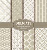 Abstract seamless patterns. Vector set. Stock Images