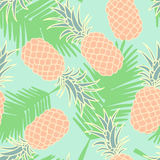 Abstract seamless pineapple pattern Royalty Free Stock Images