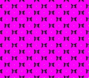 Abstract seamless pink background with black butterflies squares and white dots Stock Photography