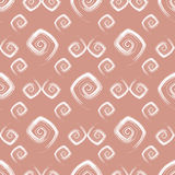 Abstract seamless pink pattern (vector). Abstract seamless pink pattern with white curls (vector royalty free illustration