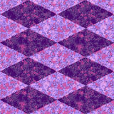 Abstract seamless pink, purple and blue diamond grunge mottled pattern Royalty Free Stock Photos