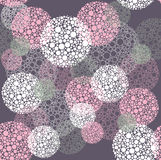 Abstract seamless polka dot circles pattern Royalty Free Stock Photos