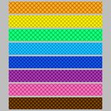 Abstract seamless polka dot pattern web banner background template set Royalty Free Stock Image