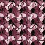 Abstract seamless red and black marble pattern with veins. Floor pavement pattern of sharp stones with marbled red, pink and black structure Royalty Free Stock Photo