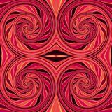 Abstract seamless red and black rotating pattern Stock Photography