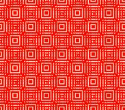 Abstract seamless red and white lines and squares. Abstract seamless strips and small squares of red and white lined in rows to form a continuous pattern Stock Photo