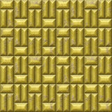 Abstract seamless relief mosaic pattern of gold scratched beveled rectangles Royalty Free Stock Photo