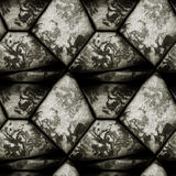 Abstract seamless relief pattern of black and white grained stones Royalty Free Stock Photography