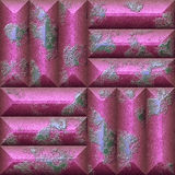 Abstract seamless relief pattern of pink and blue scratched stones Stock Photo