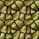 Abstract seamless relief pattern of sandstone polygonal rock structure Royalty Free Stock Photography