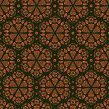 Abstract Seamless Retro Background Pattern Stock Photo