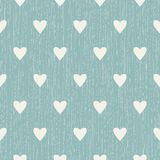 Abstract seamless retro pattern with hearts Stock Photos