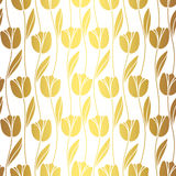 Abstract seamless retro pattern with silhouettes of tulips . Floral design Stock Photo
