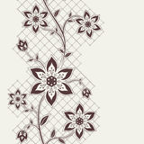 Abstract seamless ribbon with flowers elements. Seamless wallpaper for your design vector illustration