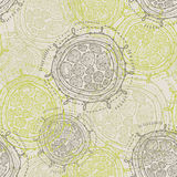 Abstract seamless round shapes Royalty Free Stock Photos