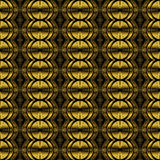 Abstract Seamless Row Of Glowing Radioactive Yellow Black Signs On Black Background.