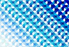 Abstract Seamless Shiny Circles in Blue Background stock illustration