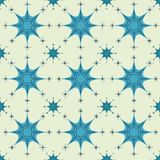 Abstract Seamless Snowflake gray Pattern Stock Images