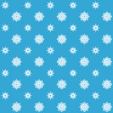 Abstract seamless snowflake pattern. Royalty Free Stock Image