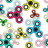 Abstract seamless spinner pattern Stock Photography