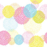 Abstract Seamless spring or summer flower colorful Stock Photography