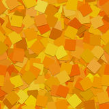 Abstract seamless square background pattern - vector graphic from rotated orange squares with shadow effect Royalty Free Stock Photos
