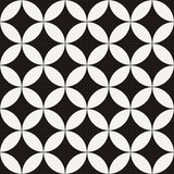 Abstract seamless star geometric pattern like leaves and flowers. Vector endless illustration Stock Photography