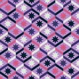 Abstract seamless striped pattern with stars. Vector illustratio Royalty Free Stock Photos