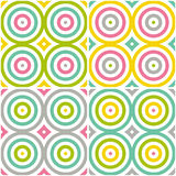 Abstract seamless stylish round background. Repeating geometric pattern with circle elements. Stock Photos
