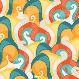 Abstract seamless swirl pattern Royalty Free Stock Image