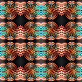 Abstract seamless symmetrical geometric background Royalty Free Stock Images