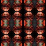 Abstract seamless symmetrical geometric background Stock Photography