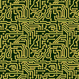 Abstract seamless texture - circuit board. Abstract seamless texture - green electronic circuit board Stock Photos