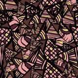 Abstract Seamless texture. Pattern with Triangles. Stock Photo