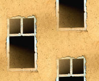 Abstract seamless texture walls with a window Royalty Free Stock Photos