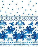 Abstract seamless tradition watercolor pattern Stock Photography