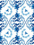 Abstract seamless tradition watercolor pattern Royalty Free Stock Photos