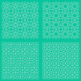 Abstract seamless traditional islamic patterns Royalty Free Stock Images