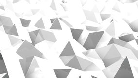 Abstract seamless triangular crystalline background. Animation stock footage