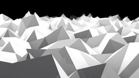 Abstract seamless triangular crystalline background animation. Low poly background stock footage