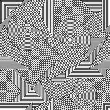 Abstract seamless tuxture. Vector background with geometric line shapes Stock Image