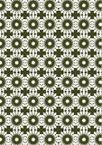 Abstract Seamless Vector Background with White and Green Repeat Stock Image
