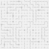 Abstract seamless vector circuit labyrinth monochrome pattern - Royalty Free Stock Photography