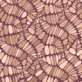 Abstract seamless vector pattern. Beige and brown.  background. Leaves, branches, veins, beans. Seamless abstract vector pattern. Beige and brown.  background stock illustration