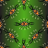 Abstract seamless vector pattern on a green background with backlight. (vector eps 10 Royalty Free Stock Images