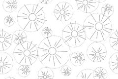 Abstract seamless vector pattern with hands in the form of dandelions on a transparent background vector illustration