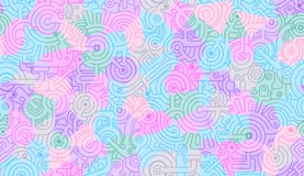 Abstract seamless vector pattern. Mechanical. Isolated. Pink, purple and blue colors. Seamless abstract vector pattern. Mechanical. Isolated. Pink, purple and stock illustration