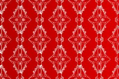 Abstract seamless vector pattern on red background. Can be used for design paper, wallpaper, fabric, packaging, websites, ceramic tiles Stock Images