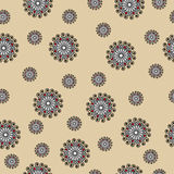 Abstract seamless vector pattern with swirls on beige background Stock Images