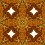 Abstract seamless vintage wooden pattern with red, brown and orange stars Royalty Free Stock Images